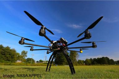 This NASA optocopter carries a LiDAR sensor